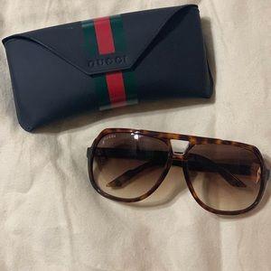 Gucci Tortoise Aviator Sunglasses